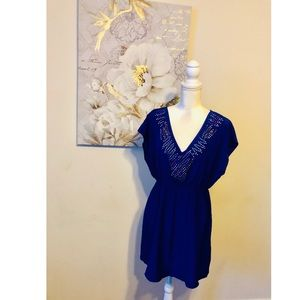 🌹Petticoat Alley Blue Sequined Dress Sz Large